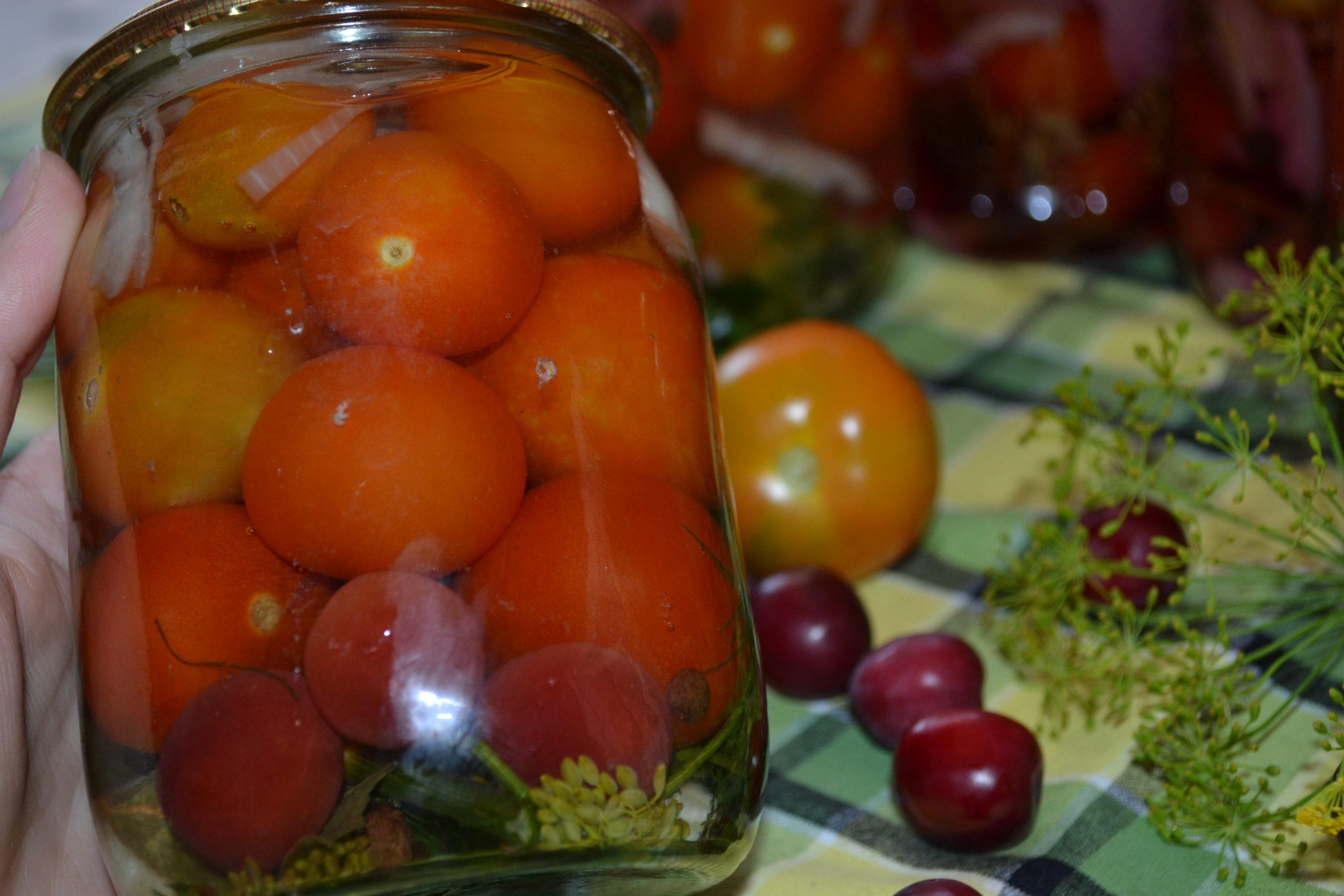 помідори на зиму без оцту