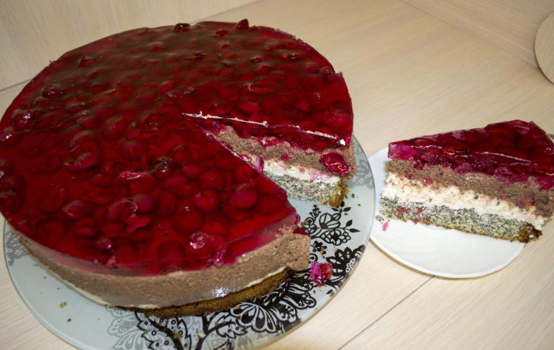 Спогад літа - торт з вишнями та сиром