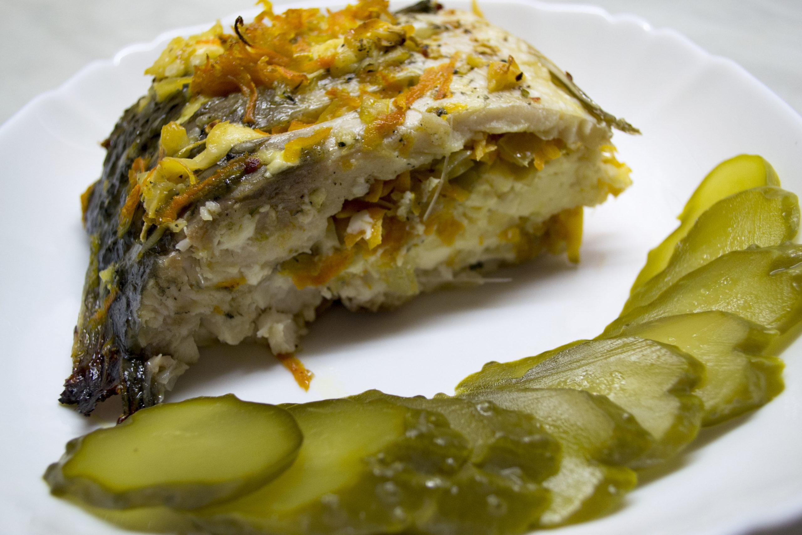 Запечена риба - короп із сиром